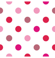 Colorful big pink red polka dots background vector