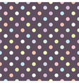 Tile polka dots pattern or seamless background vector