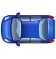 A blue car vector