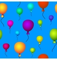 Coloured balloons flying vector