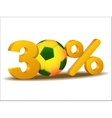 Thirty percent discount icon vector