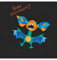 Halloween bat card vector