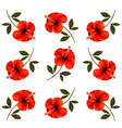 Pattern of beautiful red flowers vector