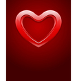 Red shiny glass heart vector