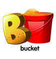 A letter b for bucket vector