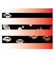 Black grunge strips 3 vector