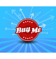 Buy me label with arrows on the background vector