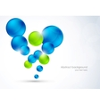 Abstract background with bubbles vector