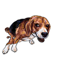 Pooping beagle vector