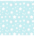 Seamless pattern with decorative stars vector