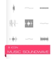 Music soundwave icons set vector