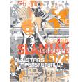 Basketball slamjam vector