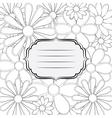 Flower frame vector