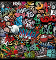 Graffiti on wall streetart background vector