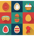 Set of easter objects vector