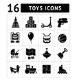 Set icons of toys vector