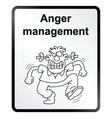 Anger management information sign vector