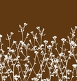 Wild flowers and branch vector