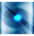 Blue background with a burst light vector