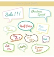 Collection of colorful speech bubbles dialog set vector