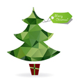 Abstract christmas tree symbol made of triangles vector