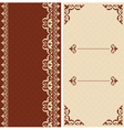 Brown and beige cards with arabic ornament vector