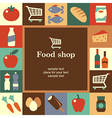 Food shop frame vector