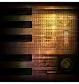 Abstract brown grunge music background with retro vector