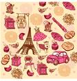 Paris elements background vector