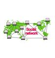 Social networking conceptual can represent vector