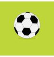 Football soccer ball icon on green grass back vector