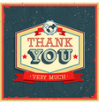 Card thank you2 vector