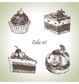 Set of cakes vector