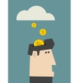 Rain of coins vector