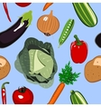 Seamless vegetables background vector