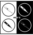 Thermometers icons vector