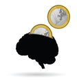 Brain as a piggy bank vector