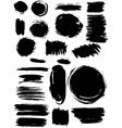 Blots splash banners set grunge texture vector