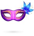 Violet venitian carnival mask vector