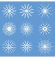 Snowflakes ornament set vector
