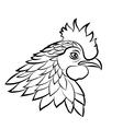 Line art cock vector