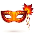 Red venitian carnival mask vector