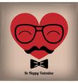 Hipster heart vector