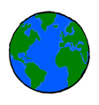 Painted earth vector