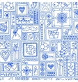Blue seamless christmas and new year pattern vector