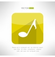 Music note icon in modern flat design audio vector