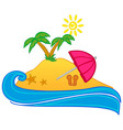 Nature island vector
