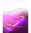 Pink light ray vector
