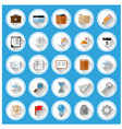 Flat icons and pictograms set vector