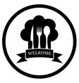 Restaurant chief icon vector